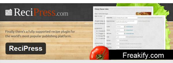 WordPress › ReciPress « WordPress Plugins