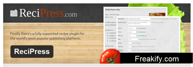 WordPress › ReciPress « WordPress Plugins