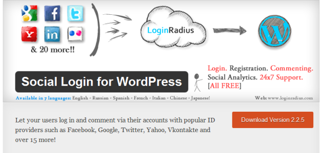 Social Login for WordPress Easy to use Plugin