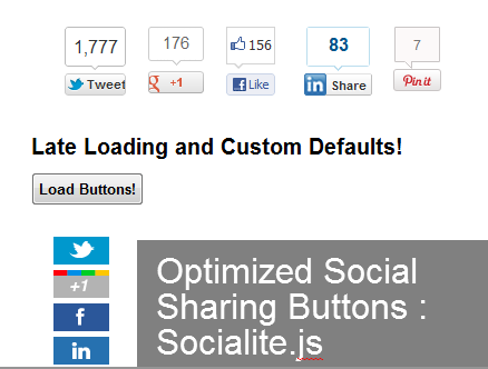 Optimized Social Sharing Buttons Socialite