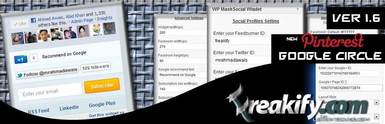 Wp-mashsocial-widget - plugin