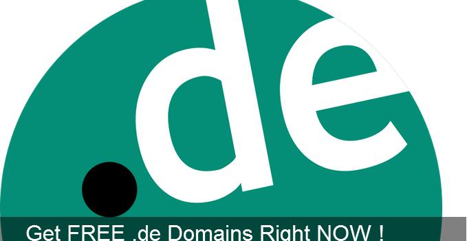 Get FREE .de Domains