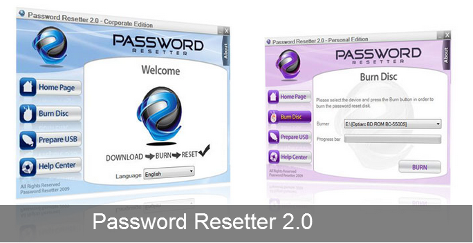 Windows Password Recovery Software For XP, Vista and Windows 7 - Password Resetter