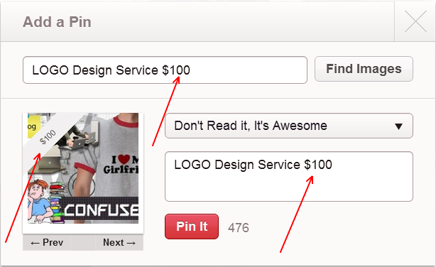 pinterest price tag