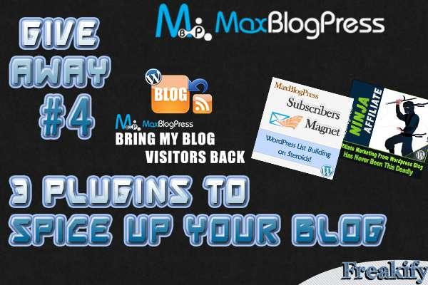 Giveaway-Maxblogpress-Plugins