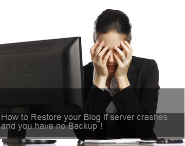 How to Restore your Blog if server crashes and you have no Backup !