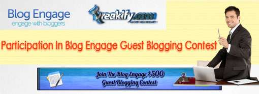 Participation In Blog Engage Guest Blogging Contest