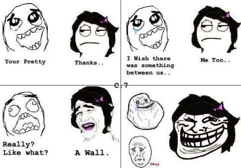 Troll Face Comic - Ouch!