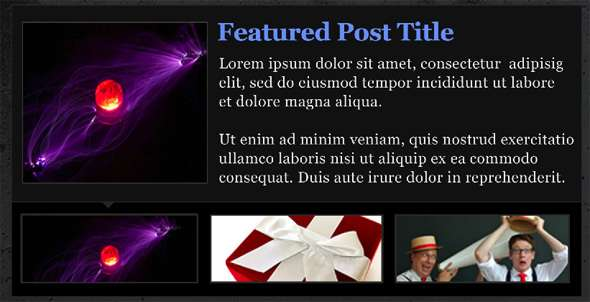 Design An Elegant Featured Content Slider for WordPress