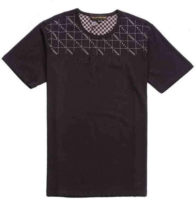 2012 Louis Vuitton men t shirt round neck cotton coffee ID js Copy image