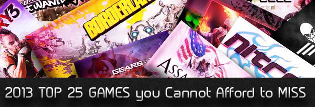 2013 TOP 25 GAMES you Cannot Afford to MISS image