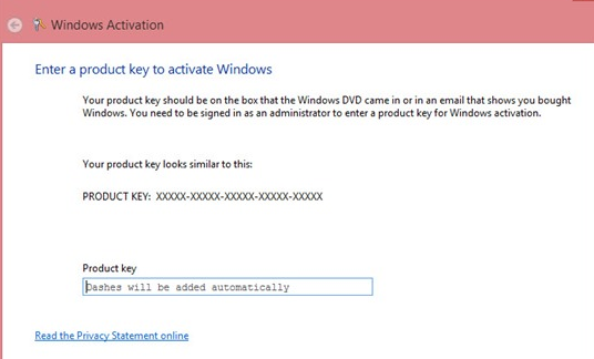 Activate windows 8 Product Key