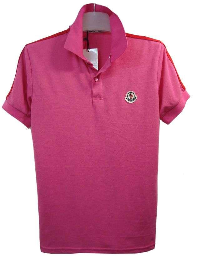 moncler men pink short sleeves t shirt Copy image