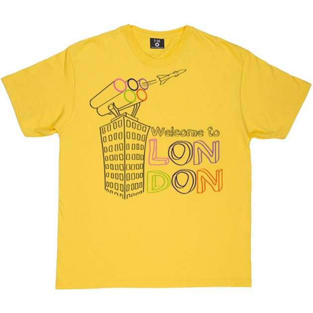 welcome to london tshirt yellowtshirt Copy image