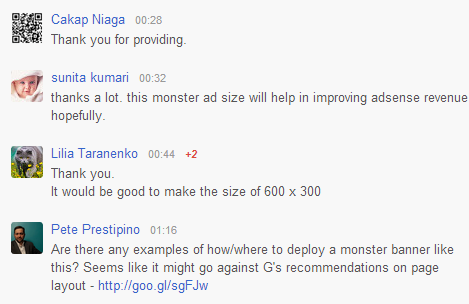AdSense 300by600 Users Comments