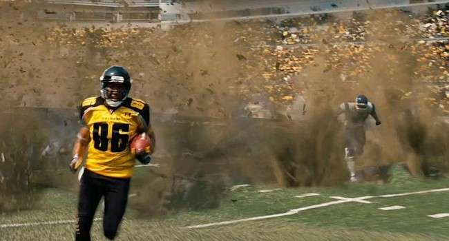 Dark Knight Rises Football Ground Explosion
