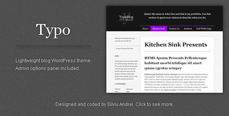Minimalist WordPress themes