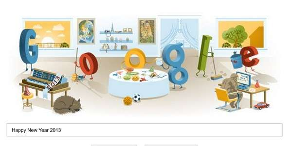 New Year 2013 Google Doodle