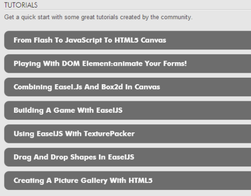 easelJS Js canvas librarya tutorials