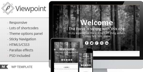 Viewpoint - Responsive single page portfolio - ThemeForest Item for Sale