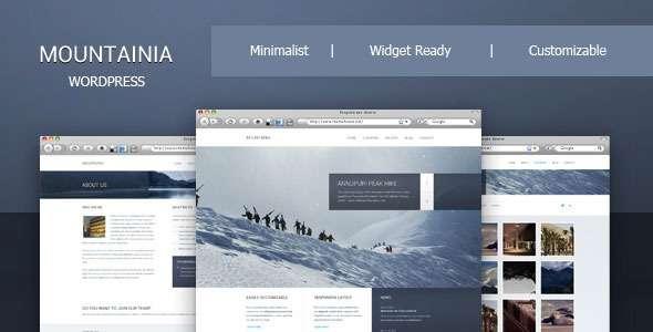 Mountainia WordPress Theme - ThemeForest Item for Sale