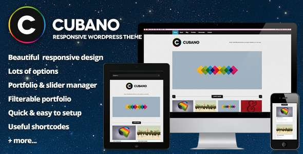 Cubano - Responsive WordPress Portfolio - ThemeForest Item for Sale