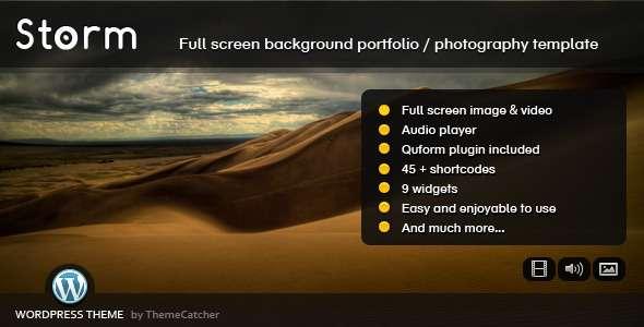 Storm WordPress - Full Screen Background Theme - ThemeForest Item for Sale