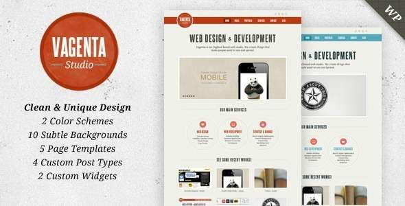 Vagenta - Clean and Unique WordPress Template - ThemeForest Item for Sale