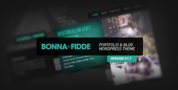 Bonna Fidde - Portfolio & Blog WordPress Theme  - ThemeForest Item for Sale