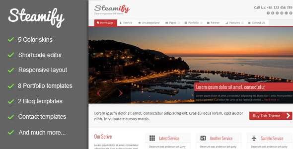 Steamify - Responsive WordPress Theme - ThemeForest Item for Sale