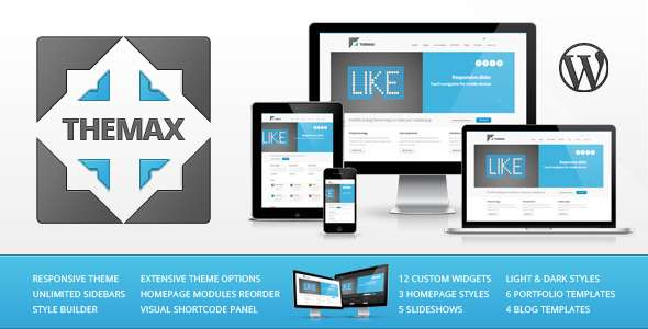Themax Responsive WP Theme - ThemeForest Item for Sale