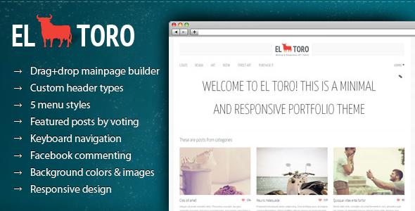 El Toro - Minimal and Responsive Portfolio Theme - ThemeForest Item for Sale