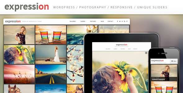 Expression Photography Responsive WordPress Theme - ThemeForest Item for Sale