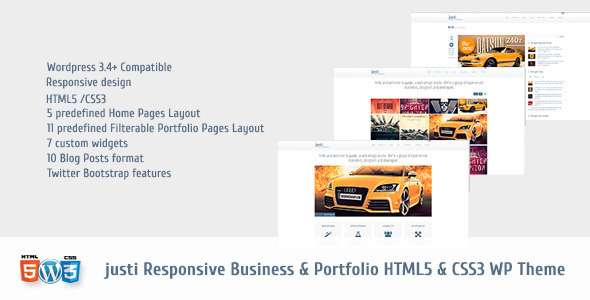 Justi Responsive HTML5&CSS3 WordPress Theme - ThemeForest Item for Sale