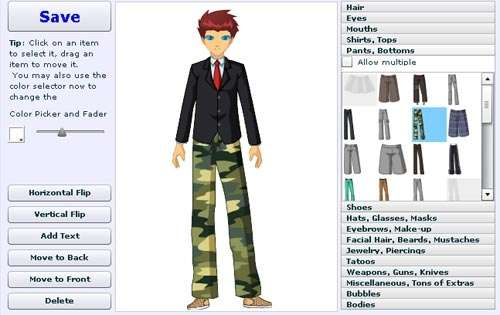 Anime Character Design Creator : Sites to create cartoon characters of yourself