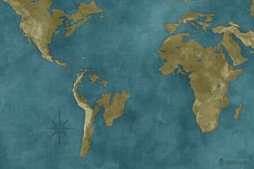 Flooded World Map 500x333 image