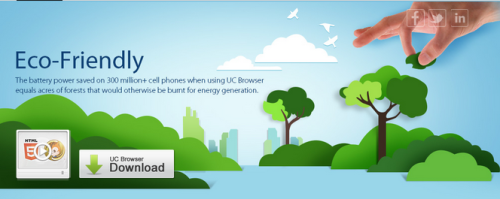 Free Download UC Browser 8.2 eco frendly 500x199