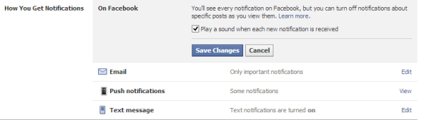 Stop Play sound FB Notifications