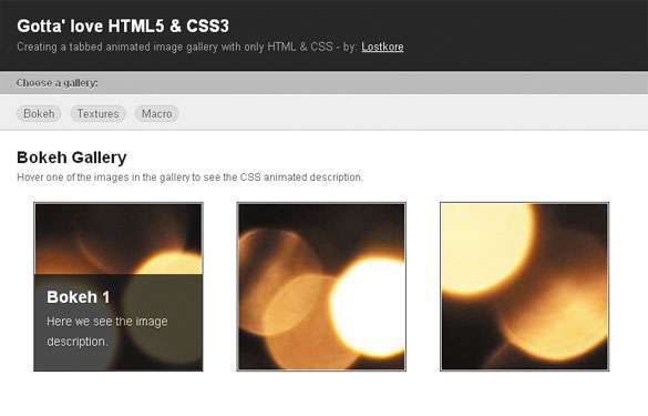 HTML5 Layout for Image Gallery
