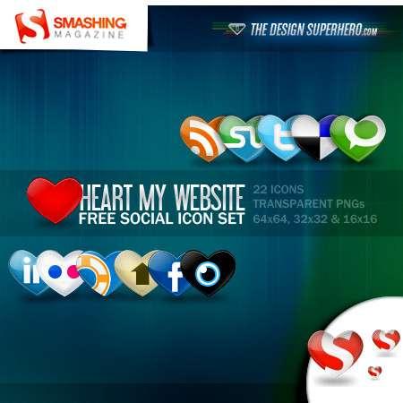 heart social media icon