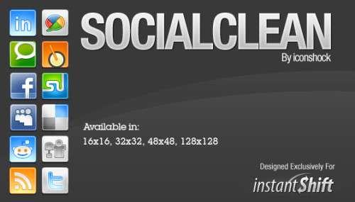 socialclean icons