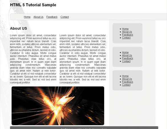 Simple HTML 5 Layout Tutorial