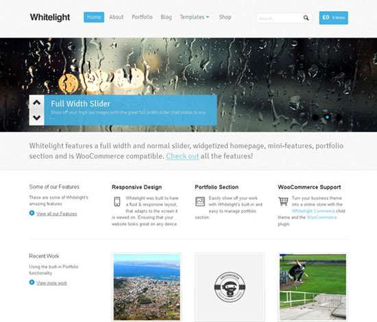 White light WordPress Theme