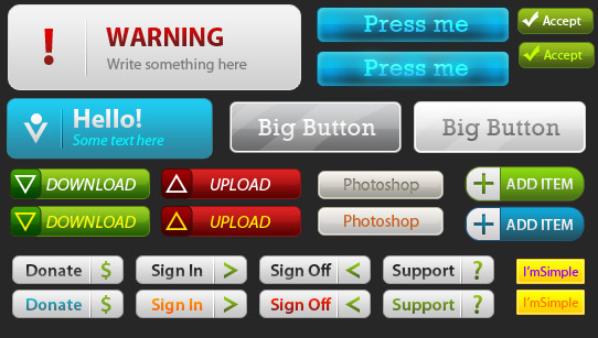 31 buttons PSD file