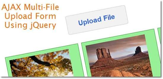 AJAX Multiple-File-Upload Form Using jQuery