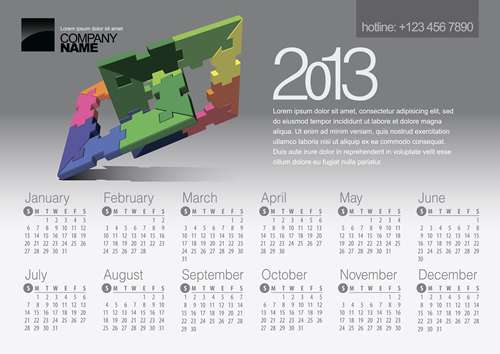calendar grid 2013