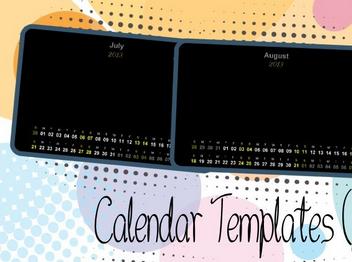 calendar templates (July-Dec 2013)