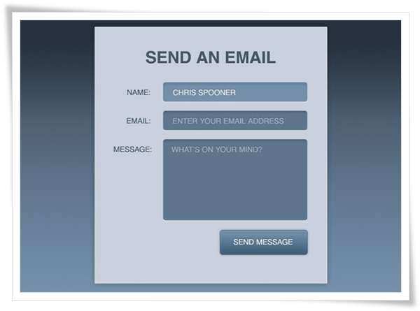 Create a Stylish Contact Form with HTML5 CSS31 image