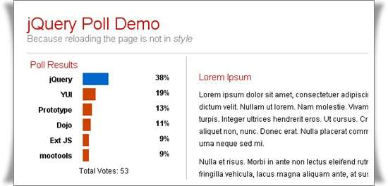 Creating a Dynamic Poll with jQuery and PHP