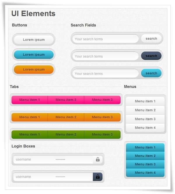 Designer CSS UI Kit
